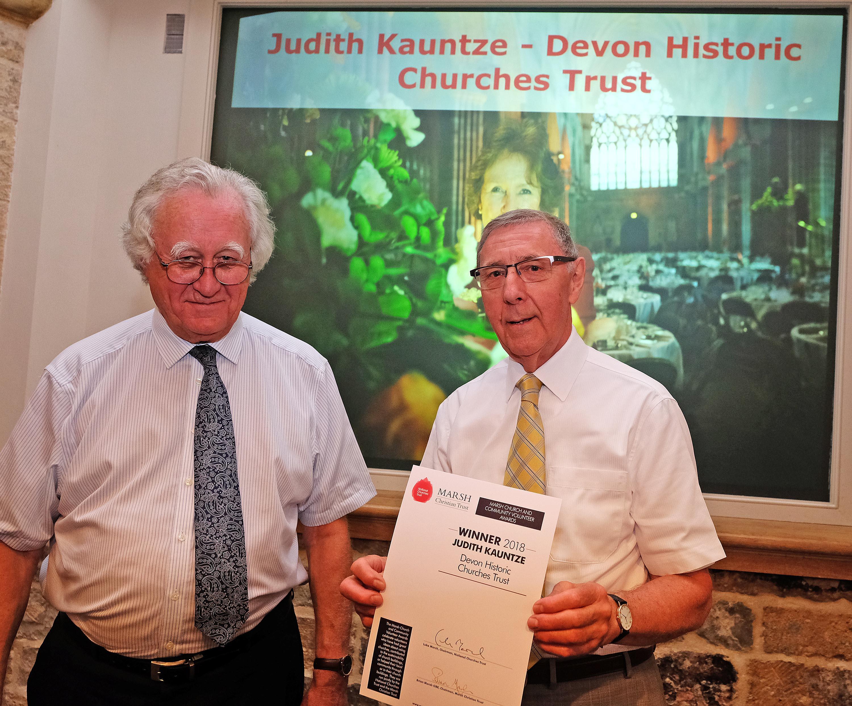 David Knowles representing Judith Kauntze with Brian Marsh from Marsh Christian Trust (c Mike Swift)