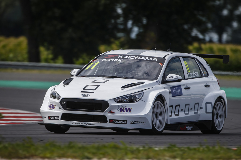 11 BJORK Thed, (swe), Hyundai i30 N TCR team Yvan Muller Racing, action during the 2018 FIA WTCR World Touring Car cup race of Slovakia at Slovakia Ring, from july 13 to 15 - Photo François Flamand / DPPI.
