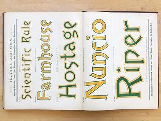 Harrild & Sons' New & Abridged Specimens of Wood-Letter, Corners, Borders, &c. (1906)