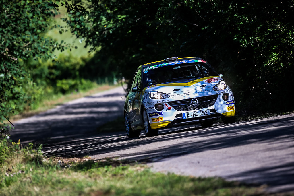 41 KRISTENSSON Tom (swe), APPELSKOG Henrik (swe), opel adam , action during the 2018 European Rally Championship ERC Rally di Roma Capitale,  from july 20 to 22 , at Fiuggi, Italia - Photo Thomas Fenetre / DPPI