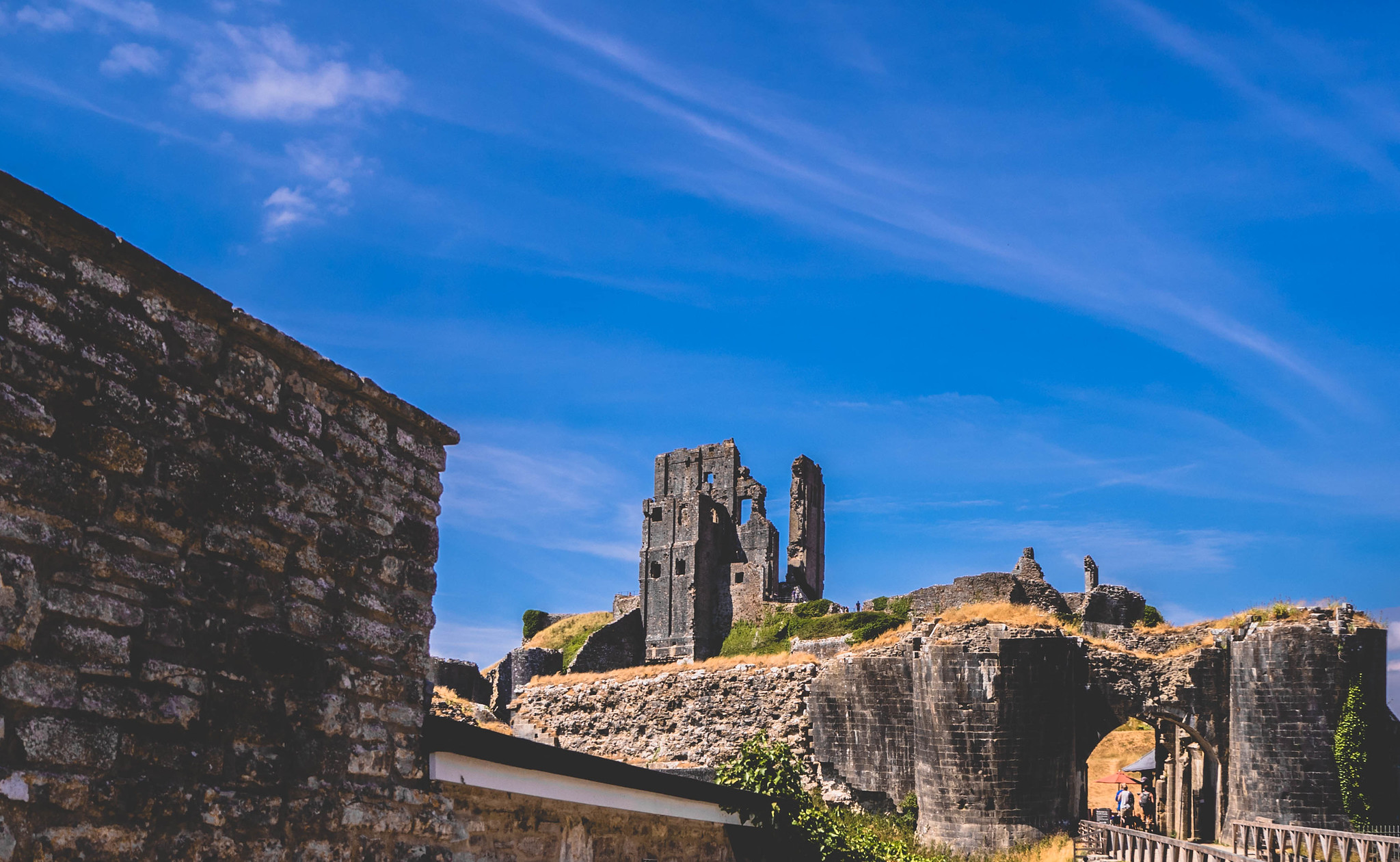 Corfe Castle From Town