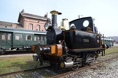 Locomotive à vapeur Yvonne 1893 ( Belgium 🇧🇪 ) en gare de Lumbres ( France )