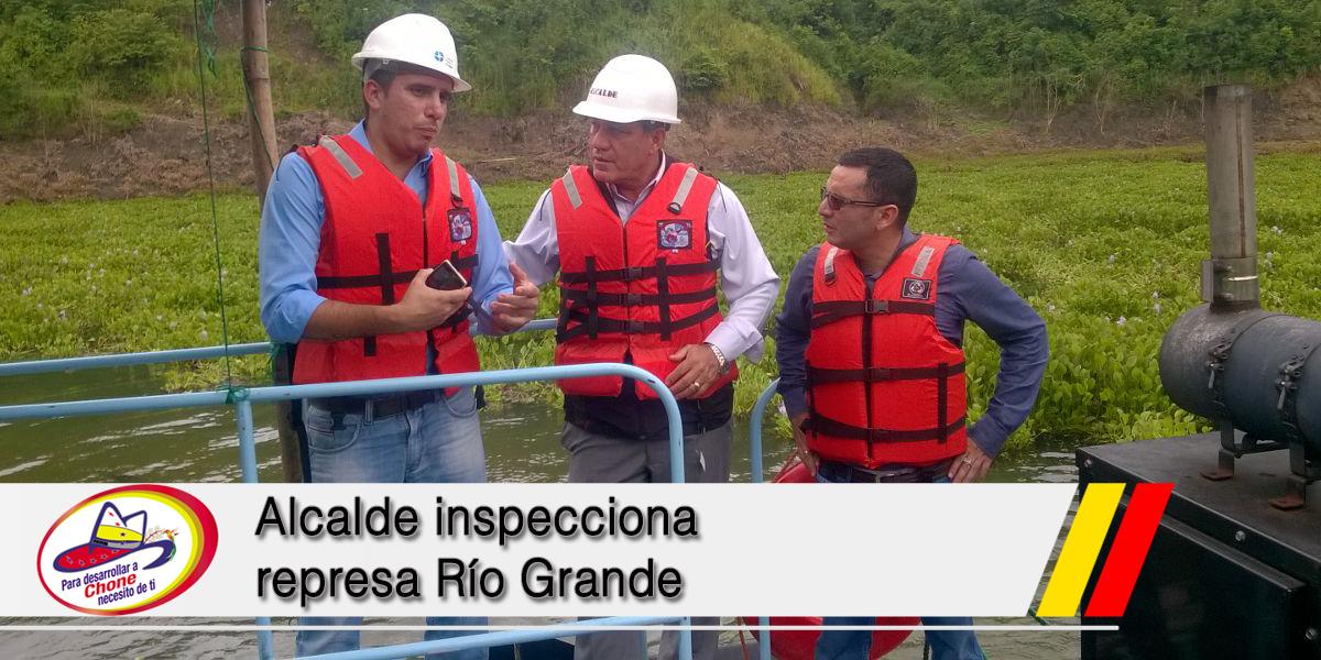Alcalde inspecciona represa Río Grande