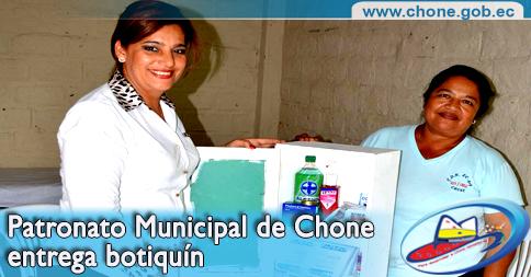 Patronato Municipal de Chone entrega botiquín