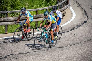 Fortunato, Petruzzi e Radogna in una fase della gara