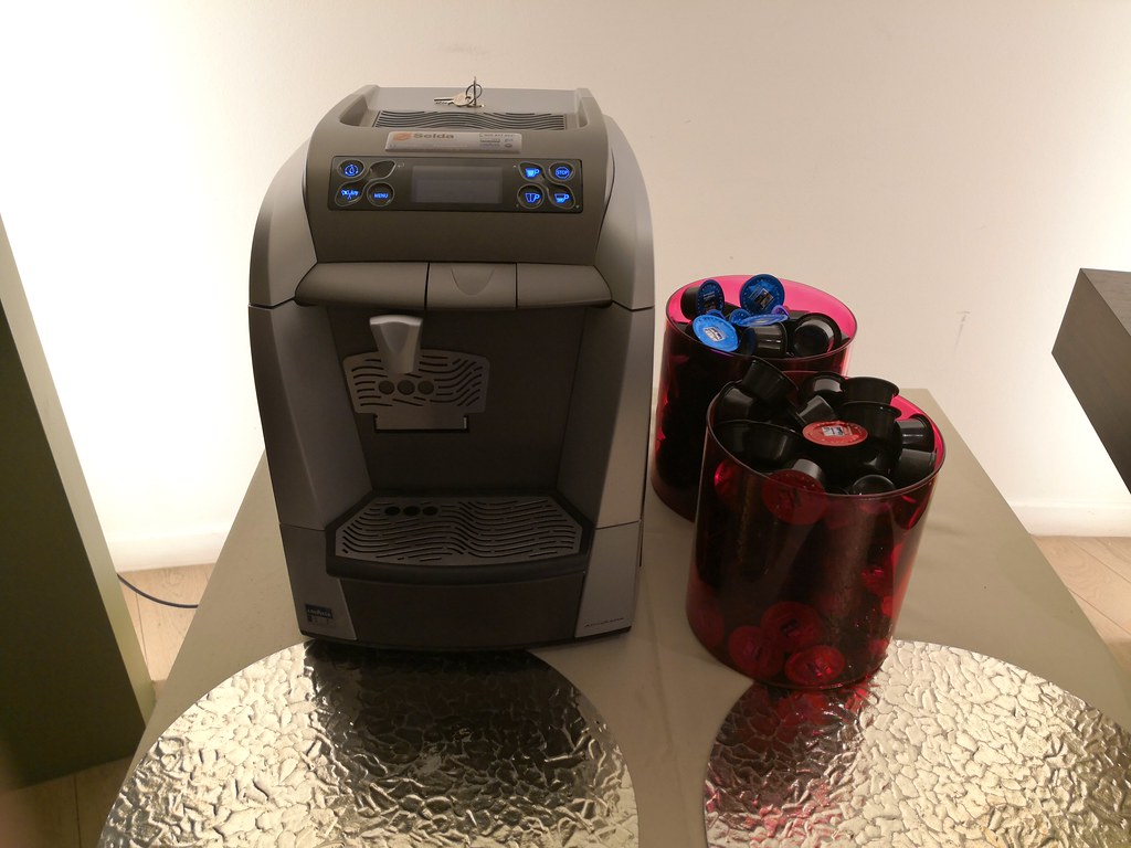 Self-serve espresso machine