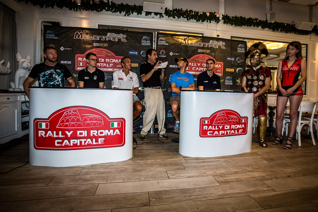 conference de presse, press conference during the 2018 European Rally Championship ERC Rally di Roma Capitale,  from july 20 to 22 , at Fiuggi, Italia - Photo Thomas Fenetre / DPPI