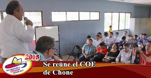 Se reúne el COE de Chone