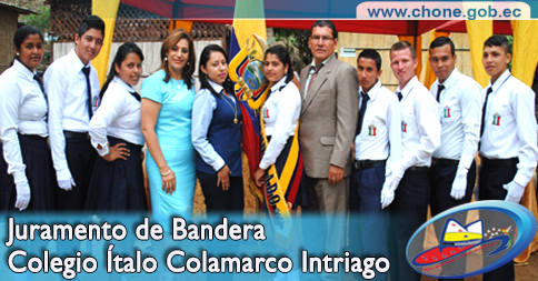Juramento de Bandera Colegio Ítalo Colamarco Intriago