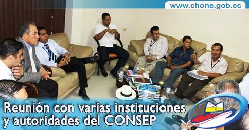 Reunión con varias instituciones y autoridades del CONSEP