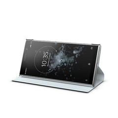 Xperia XA2 Plus_Cover_fronthoriz40_silver_stand