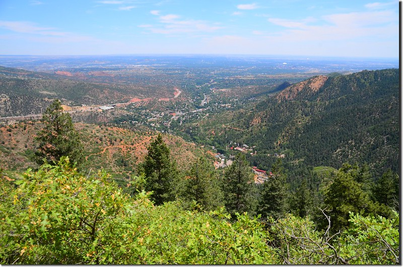Overlooking east at Colorado Springs from Barr Trail