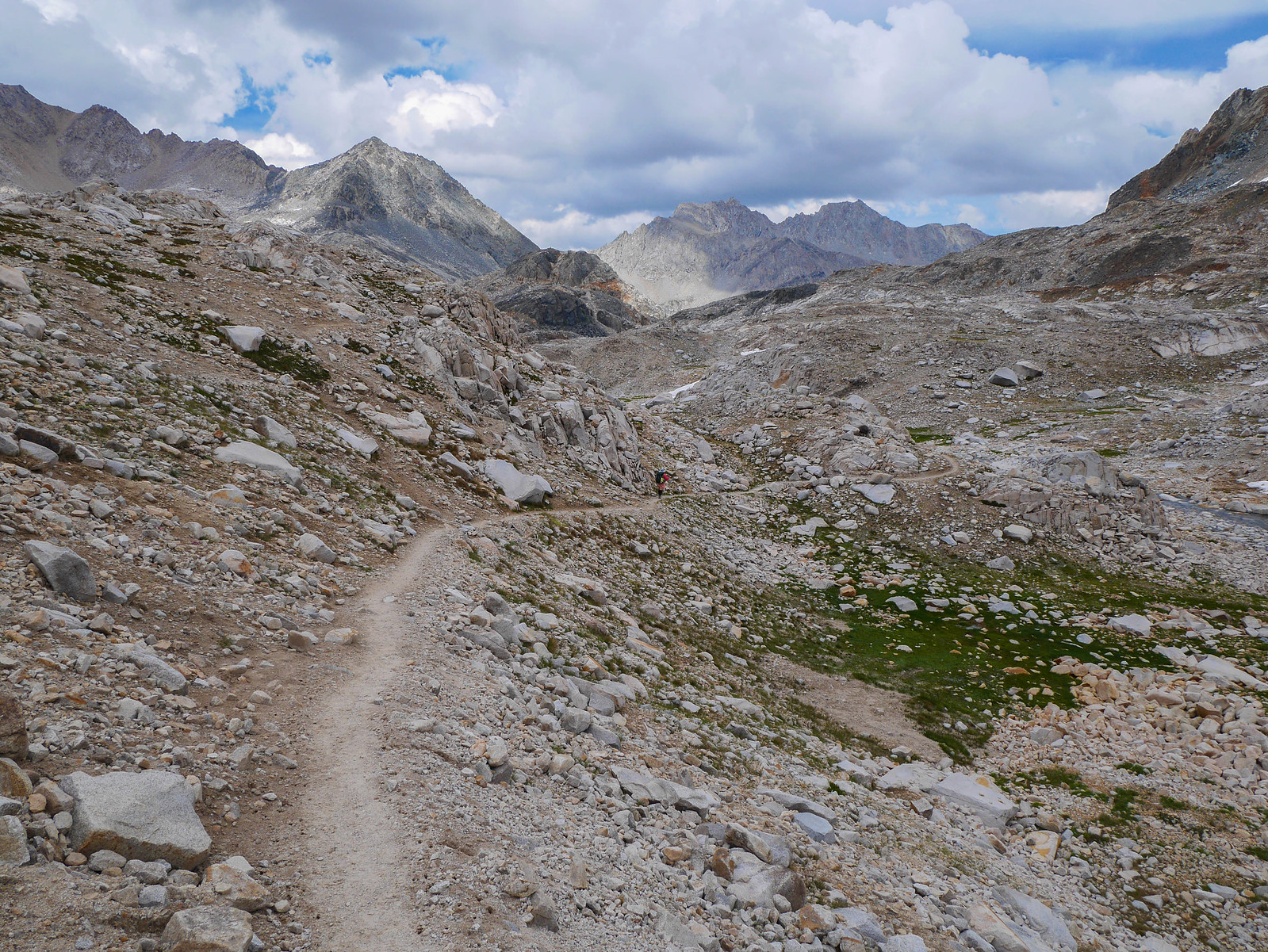 Descending from Muir Pass