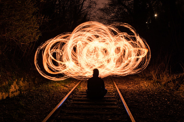 railway to the fire