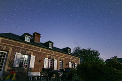 Brick house at night - Photo of Le Torquesne