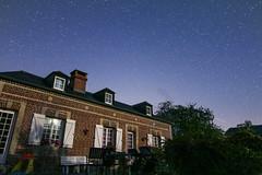 Brick house at night - Photo of Drubec