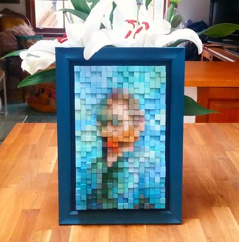 Pixelated 3D Vincent Van Gogh
