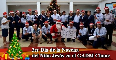 3er Día de la Novena del Niño Jesús en el GADM Chone