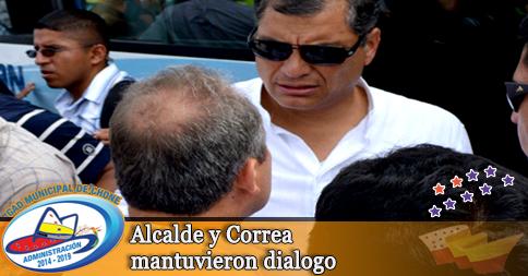 Alcalde y Correa mantuvieron dialogo