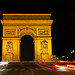 L'arc de Triomphe at Night