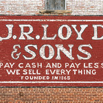 Mon, 2018-07-16 11:21 - Painted sign on an old brick building in downtown Bridgeport, Alabama