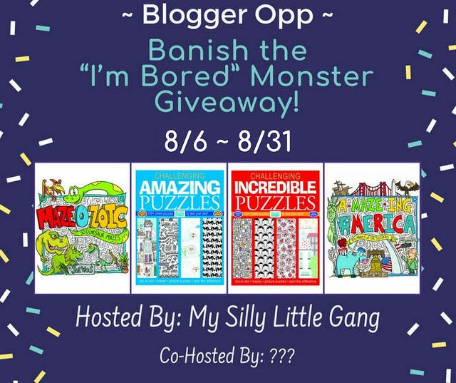 "Blogger Opp ~ Banish the ""I'm Bored"" Monster Giveaway"