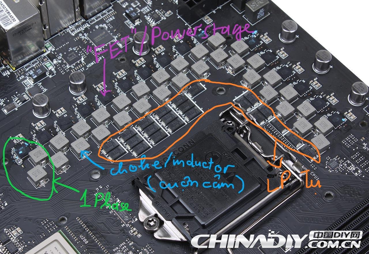 Mainboard vrm cho CPU, số lượng phase làm sao để đếm? - vozForums