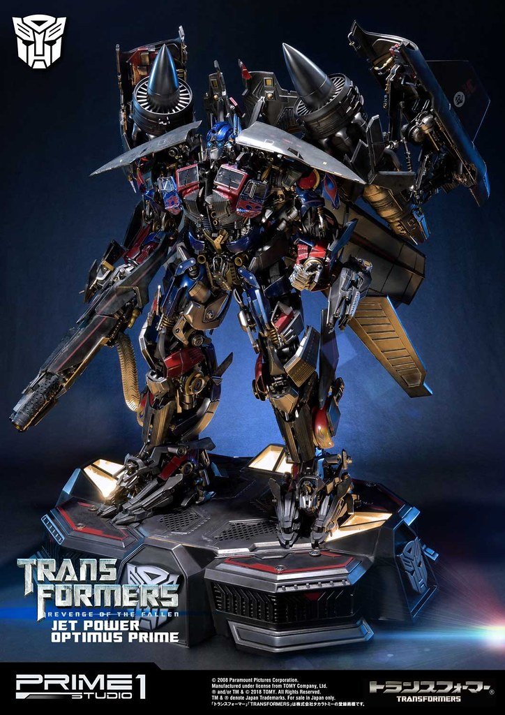 又一誇張震撼作!! Prime 1 Studio《變形金剛:復仇之戰》天火柯博文 トランスフォーマー/リベンジ ジェットパワー オプティマスプライム MMTFM-21EX 全身雕像作品