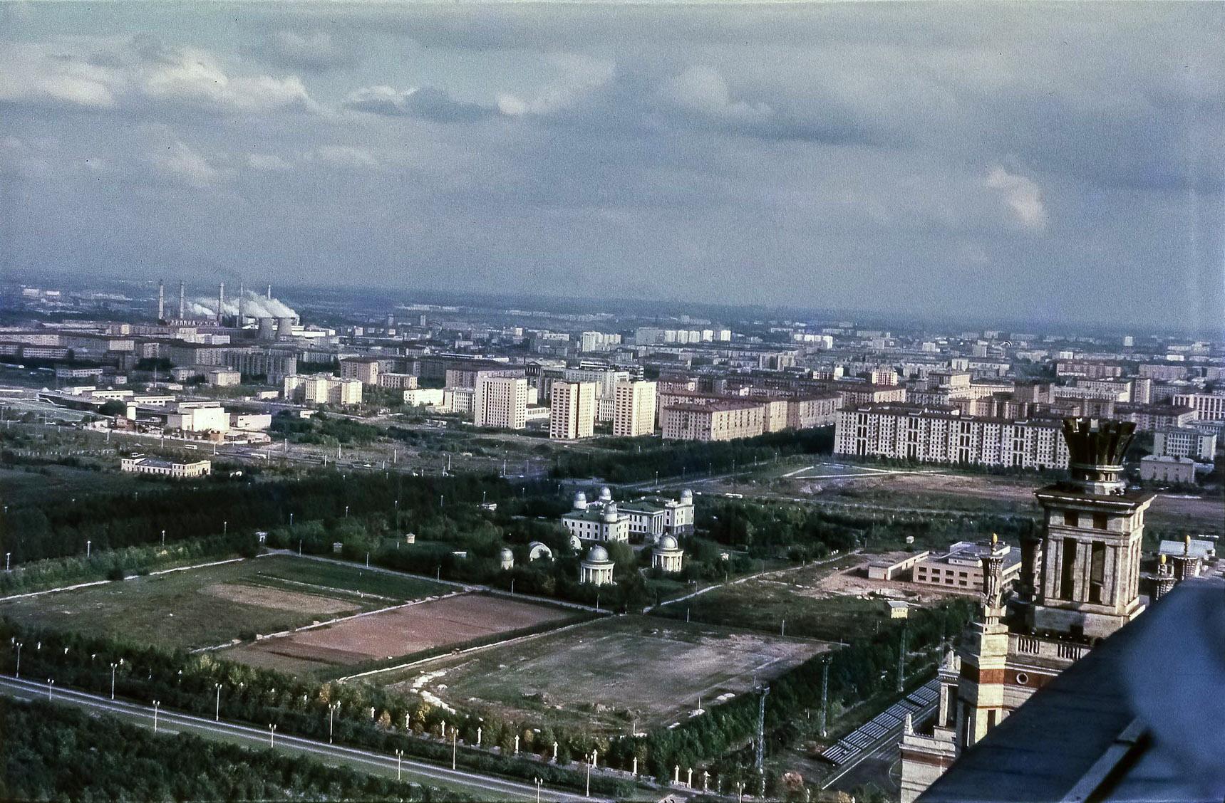 МГУ. Вид на восток с Главного здания МГУ