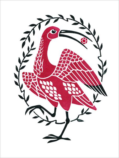 Scarlet Ibis with a Gem / Алый ибис