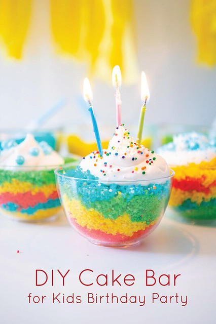Kid's Birthday Party Idea: DIY Cake Bar