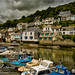 Moody Sky at Polperro Harbour