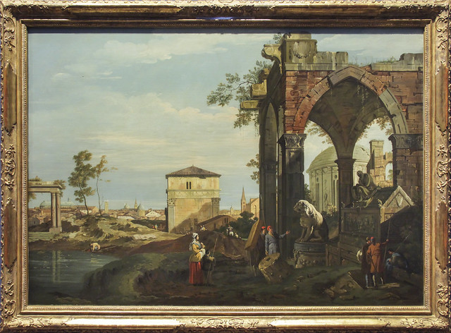 Capriccio with Roman Ruins and Motifes from Padua, Giovanni Antonio Canal, c.1740