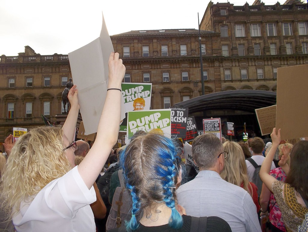 Glasgow Protest against Trump Visit, July 2018