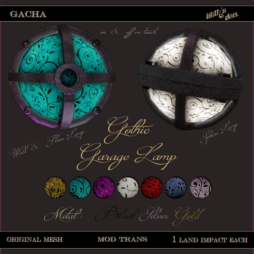 Lilith's Den – Gothic Garage Lamp – Gacha Key