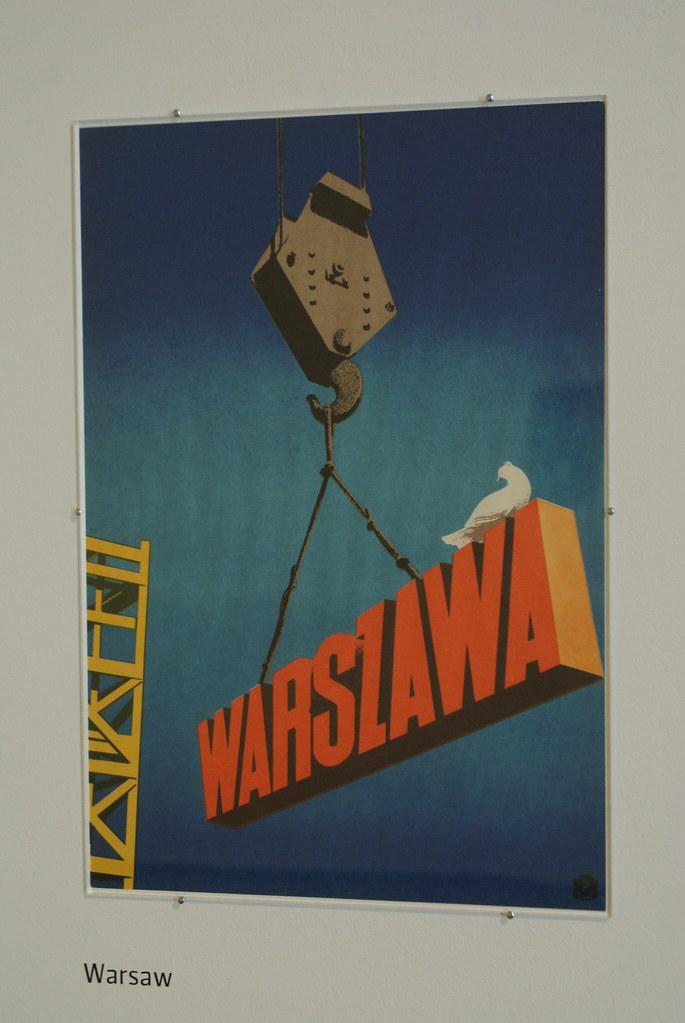 Affiche pour la reconstruction de Varsovie détruite pendant la 2e guerre mondiale par Tadeusz Trepkowski.