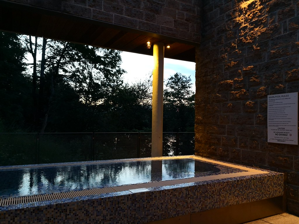 Outdoor hot tub deck