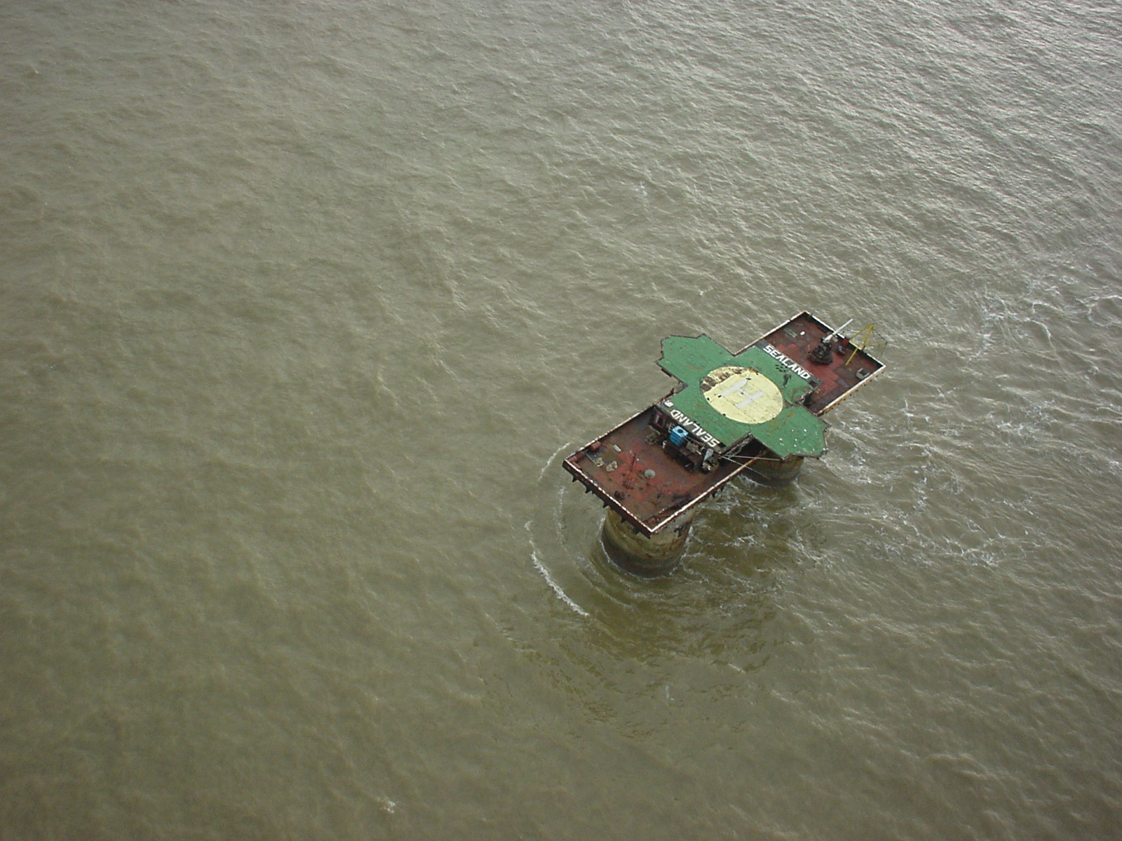Sealand photographed from a helicopter on November 13, 1999.