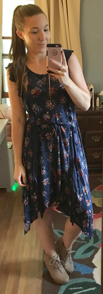 matilda jane women's navy floral dress