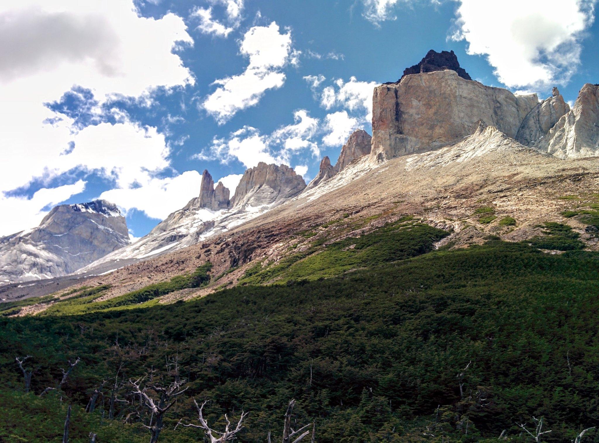 The view towards Los Cuernos from our secret mirador