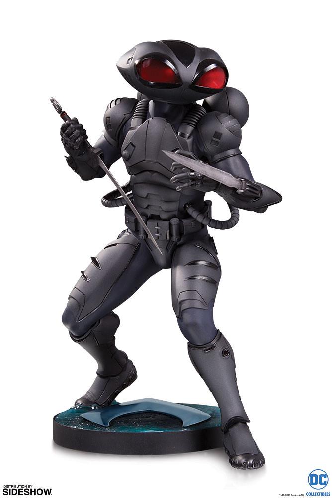 帶著七海狂怒強襲而來!! DC Collectibles《水行俠》黑蝠鱝 Black Manta 全身雕像作品