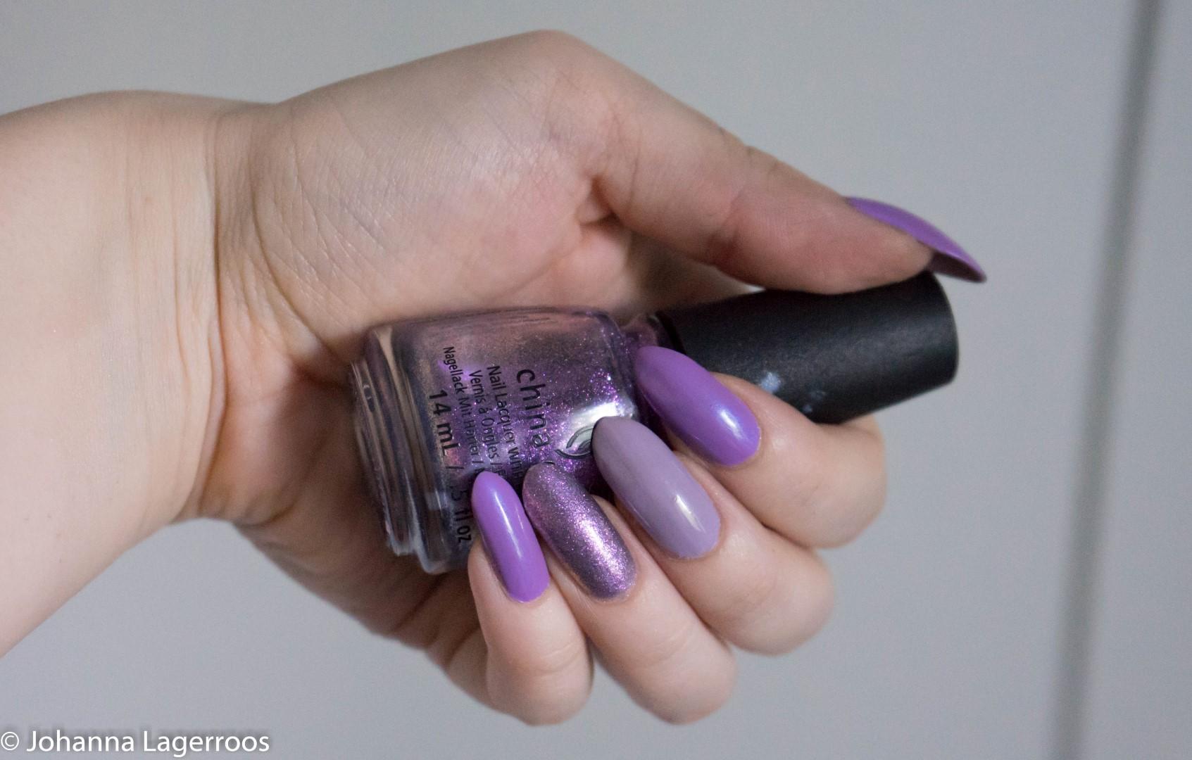 china glaze purple