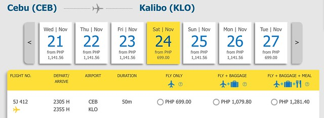 Cebu Pacific Pay Day Fly Day Sale Cebu to Kalibo