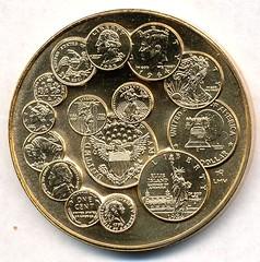 Mint Bicentennial medal reverse