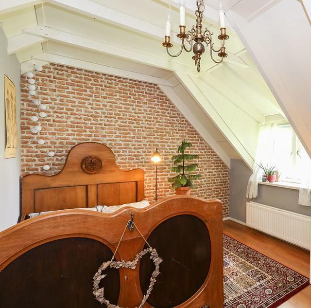 Antiek bed slaapkamer landelijke stijl