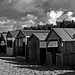 Beach huts by Andrew Boxall