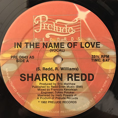 SHARON REDD:IN THE NAME OF LOVE(LABEL SIDE-A)
