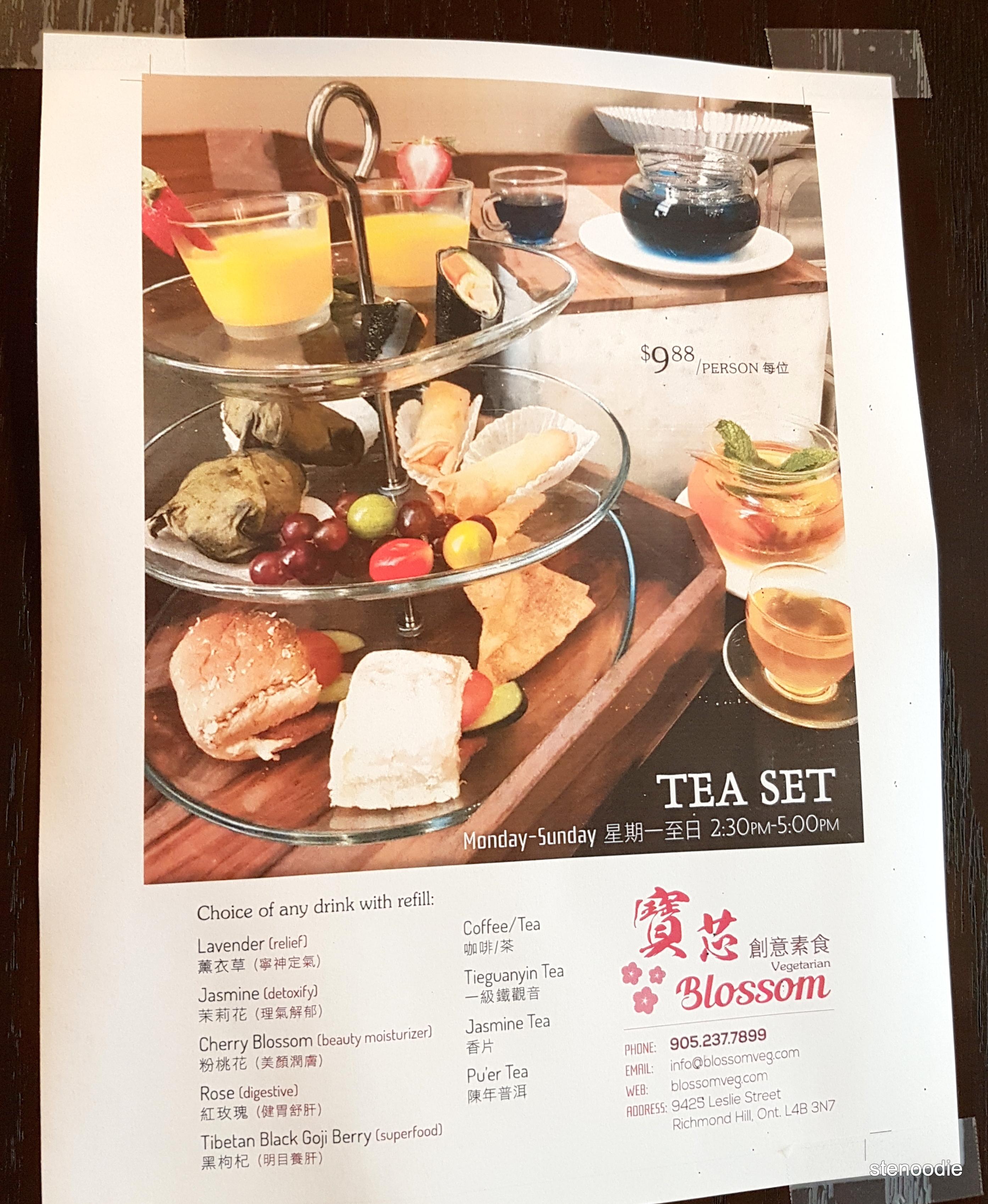 Blossom Vegetarian tea set prices
