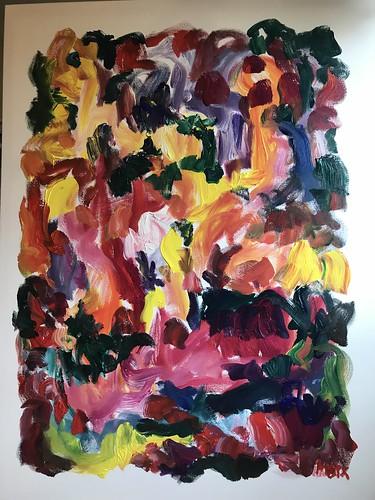 Susan Marx Garden Abstract 2018 48x36 acrylic on canvas