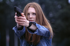 "Julianne Moore as ""Clarice Starling"" inthe movie ""HANIBAL"""
